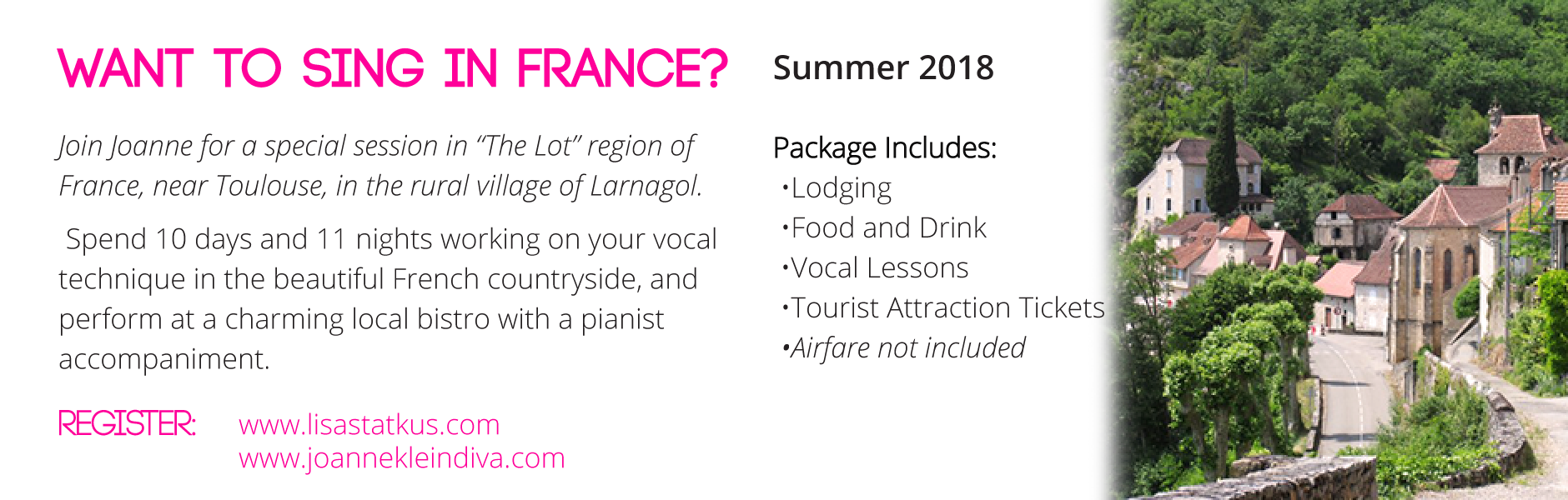 France trip for 2018